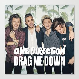 1D Drag me down Canvas Print