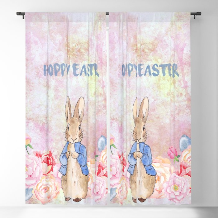 Hoppy The Bunny 3-Hoppy Easter Blackout Curtain