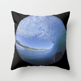 George Greenough Filming 1968 (6 photo composite) Throw Pillow