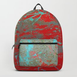 texture - aqua and red paint Backpack