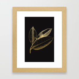 The golden leaf Framed Art Print