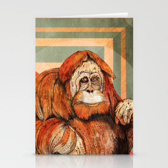 Mr. Orangutan Stationery Cards