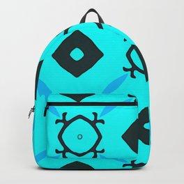 Light Blue Behind Dark Diamonds Backpack