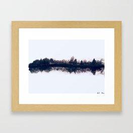 Still Lake Framed Art Print