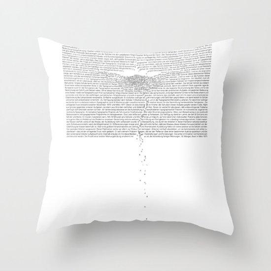 Erosion & Typography 1 Throw Pillow
