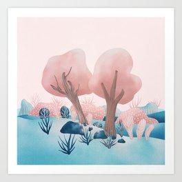 Winter landscapes 1 Art Print