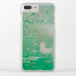 MoonSea Fantasy lightgreen Clear iPhone Case