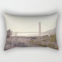 Glowy Golden Gate Rectangular Pillow