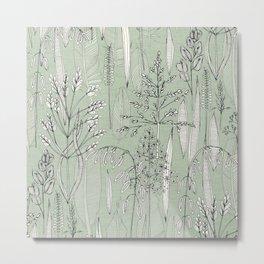 meadow feathers eucalyptus Metal Print