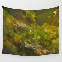 Rainy autumn leaves Wall Tapestry