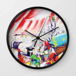 Circus Penguins Wall Clock