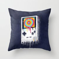 gaming Throw Pillows featuring Gaming by Ronan Lynam