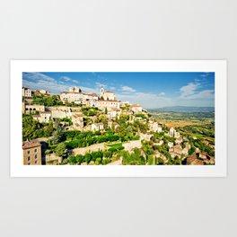 Gordes - old Medieval town Gordes in Provence, France Art Print