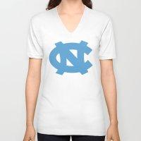 north carolina V-neck T-shirts featuring NCAA - North Carolina Tarheels by Katieb1013