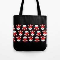 pokeball Tote Bags featuring Pokeball Print by UMe Images