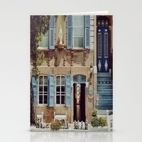 jewish Stationery Cards featuring Blue Shutters in the Sun by Brown Eyed Lady