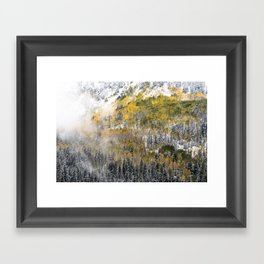 Powdered Sugar Framed Art Print