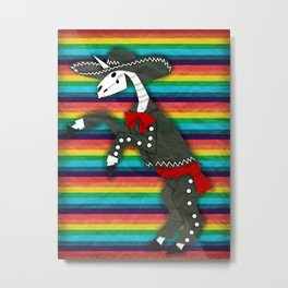 Charro Unicorn Metal Print