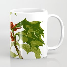 Holly Christmas Red Berry Coffee Mug