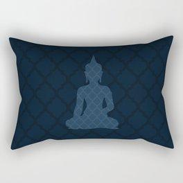 Navy Blue Buddha Rectangular Pillow