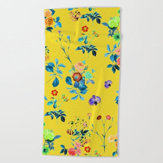 Floral Shower || #society6 #decor #buyart Beach Towel