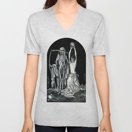 Death and the Maiden II Unisex V-Neck