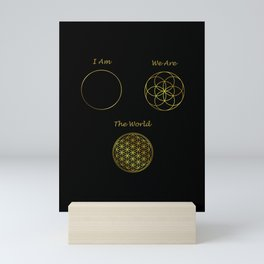 Sacred Geometry The World Mini Art Print