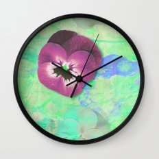 Looking back in the light green room Wall Clock
