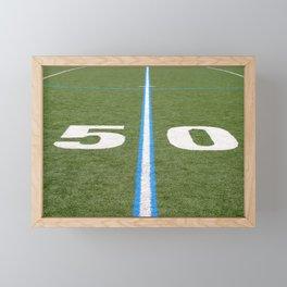 Football Field Fifty Framed Mini Art Print