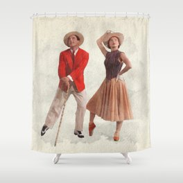 An American in Paris - Watercolor Shower Curtain