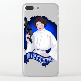 Our Lady of Resistance Clear iPhone Case