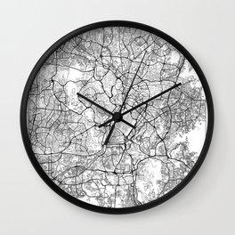 Kuala Lumpur Map White Wall Clock