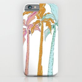 Pastel Palm Trees iPhone Case