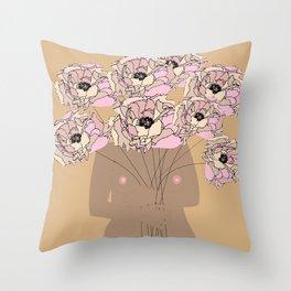 Flor Garduno Throw Pillow