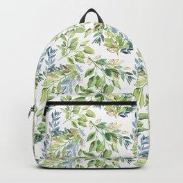 Spring Leaves watercolor pattern Backpack