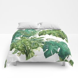 A Pattern of Boho Plants Comforters