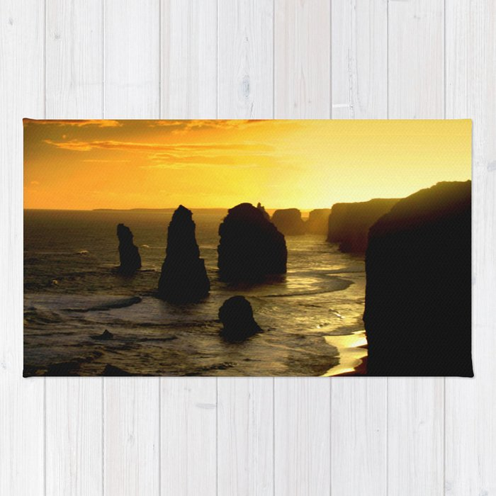 Sunset over the Twelve Apostles - Australia Rug