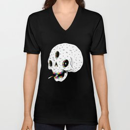 Drippy Space Skull Unisex V-Neck