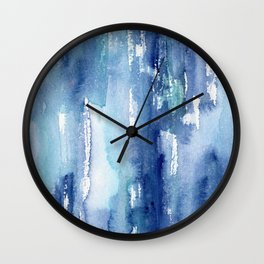 Blue vibes #2 || watercolor Wall Clock