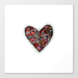 heart zip. Canvas Print