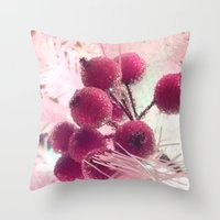 merry christmas Throw Pillows featuring Merry Christmas ! by Françoise Reina
