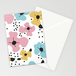 Abstract fowers Stationery Cards