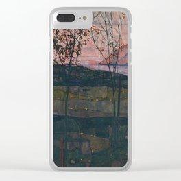 Egon Schiele Setting Sun Clear iPhone Case