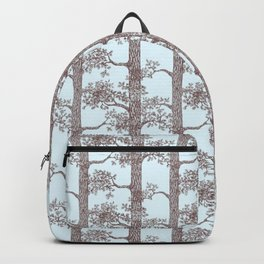 Pine Forest (Light Blue and Sepia) Backpack