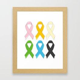 SIx Awareness Ribbons Framed Art Print