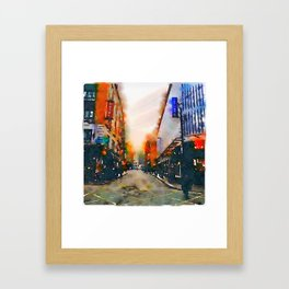 Dublin at Night II (Soaked Collection) Framed Art Print