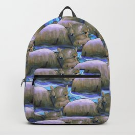hippo squad Backpack
