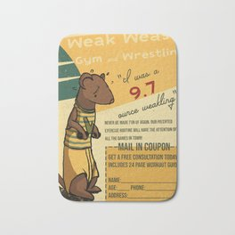 Weak Weasel Wrestling & Gym Bath Mat