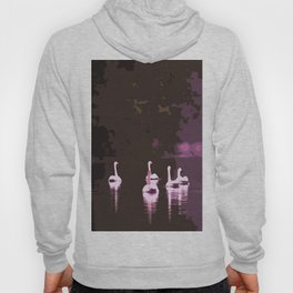 Beautiful reflection in the lake surface - shades of light pink to dark Hoody