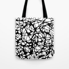 black curves Tote Bag